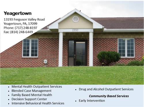 Mental Health Services near Yeagertown Mental Health counseling Mifflin County area CenClear Mental Health Services