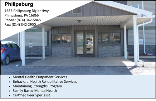 Mental Health Services near Philipsburg Mental Health counseling near Clearfield mental health counseling CenClear childrens