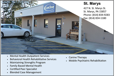 CenClear St. Marys Mental Health Services Elk County Mental Health Services