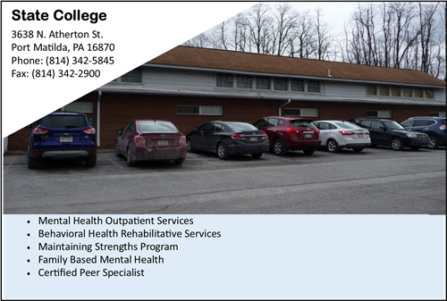 Mental Health counseling near State College counseling mental health Port Matilda CenClear mental health counseling Centre