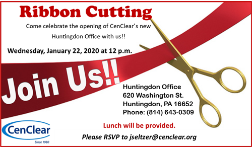 Huntingdon Ribbon Cutting Mental Health Services Huntingdon Drug and Alcohol Services CenClear