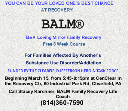 BALM for families of people struggling with addiction