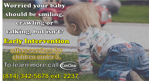 Early Intervention CenClear babies toddlers crawling walking talking milestones evaluations