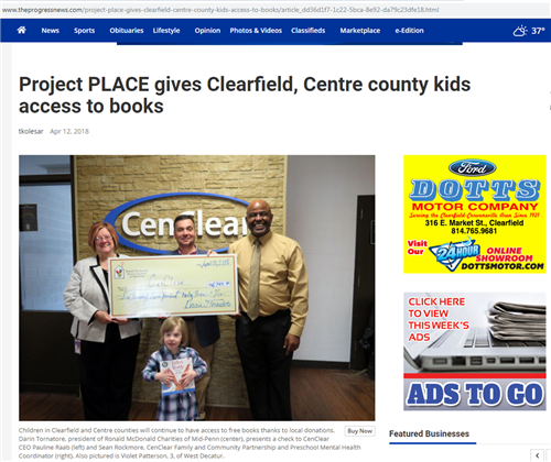 CenClear clearfield Centre counties kids