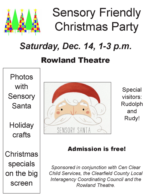 Sensory friendly Christmas Party CenClear