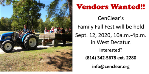 Vendors for Fall Fest